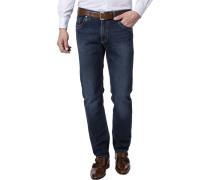 Herren Jeans, Modern Fit, Baumwoll-Stretch, dunkelblau