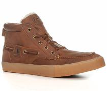 Herren Schuhe Schnürstiefeletten, Leder warm gefüttert, braun