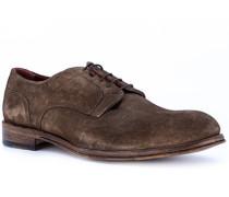 Schuhe Derby Veloursleder mokka
