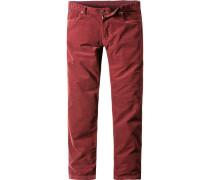 Herren Jeans Screwflat-D Modern Fit Stretch-Cord dunkel