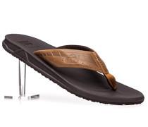 Herren Schuhe Zehensandalen Leder braun braun,braun