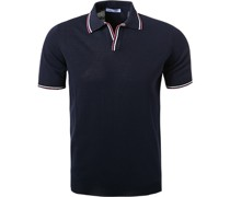 Polo-Shirt Baumwoll-Strick nacht