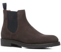 Herren Schuhe Chelsea Boots Veloursleder dunkelbraun braun,beige