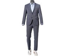 Anzug, Modern Fit, Schurwoll-Stretch klimaregulierend