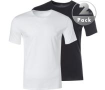 Herren T-Shirts, Baumwolle, weiß-schwarz