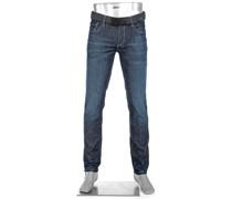 Jeans Slipe, Tapered Fit, Baumwoll-Stretch 11,5oz