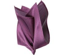 Herren Accessoires Einstecktuch Seide lila gemustert