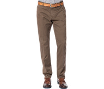 Herren Hose Chino, Regular Fit, Baumwolle, braun