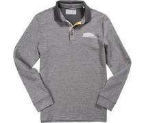 Herren Polo-Shirt Baumwoll-Mix meliert