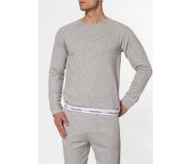 Herren Sweatshirt, Baumwolle, grau meliert