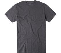 Herren T-Shirt Baumwoll-Mix dunkel meliert