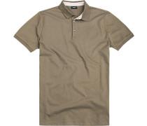 Herren Polo-Shirt Baumwoll-Piqué-Stretch khaki