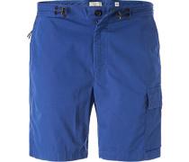 Herren Hose Cargoshorts, Baumwolle, blau