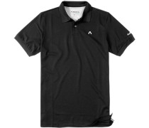 Herren Polo-Shirt, Coolmax®, schwarz