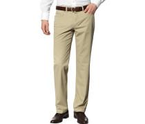 Herren Jeans Contemporary Fit Baumwoll-Stretch sand