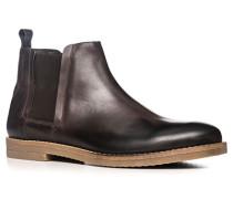 Herren Schuhe Chelsea Boots Leder dunkelbraun braun,braun