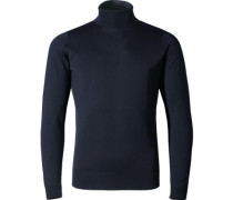 Herren Pullover Slim Fit Merino Extrafine nachtblau