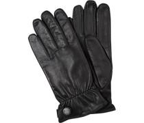 Herren Handschuhe, Ziegen-Nappaleder, schwarz