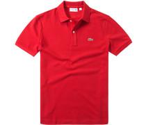 Polo-Shirt Slim Fit Baumwoll-Piqué feuer