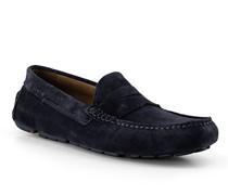 Schuhe Mokassin Emidio Veloursleder navy