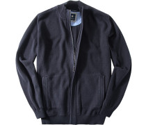 Herren Cardigan Premium Baumwolle dunkelblau