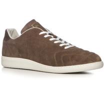 Herren Schuhe Sneaker, Veloursleder, taupe braun