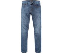 Herren Jeans, Baumwoll-Stretch, denim blau