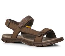 Herren Schuhe Sandalen, Textil, hellbraun