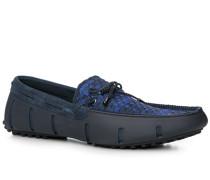 Herren Schuhe Loafer, Kautschuk, blau