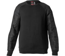 Herren Sweatshirt Baumwolle schwarz
