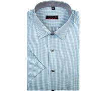 Herren Hemd, Modern Fit, Baumwolle, türkis gemustert grün