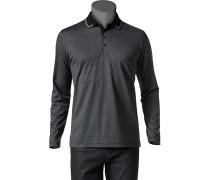 Herren Polo-Shirt Baumwoll-Jersey -weiß gestreift