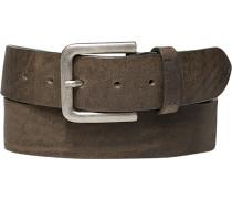 Herren Gürtel graubraun Breite ca. 4 cm