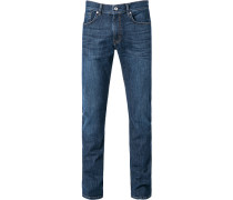 Herren Jeans, Regular Fit, Baumwolle, denim blau