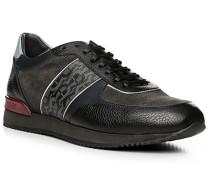 Herren Schuhe Sneaker, Leder, grau