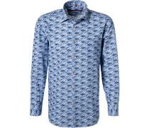 Hemd Comfort Fit Baumwolle  gemustert