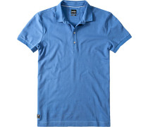 Herren Polo-Shirt, Slim Fit, Baumwoll-Piqué, jeansblau
