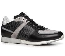 Herren Schuhe Sneaker, Kalbleder, schwarz gemustert