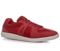 Herren Schuhe Sneaker Mesh-Kautschuk-Mix erdbeerrot