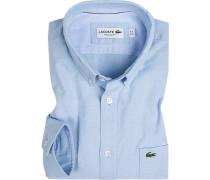 Herren Hemd, Regular Fit, Baumwolle, bleu blau