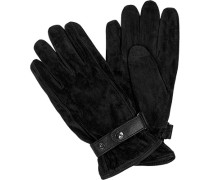 Herren  Handschuhe Veloursleder gefüttert schwarz