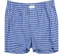 Herren Unterwäsche Boxershorts Baumwolle blau kariert