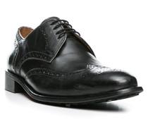 Herren Schuhe Brogues Leder anthrazit