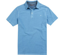 Herren Polo-Shirt Baumwoll-Pique bleu blau
