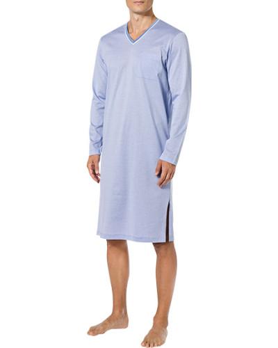 Nachthemd, Baumwolle, azur gestreift