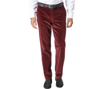 Herren Cordhose Contemporary Fit Baumwoll-Stretch rubin