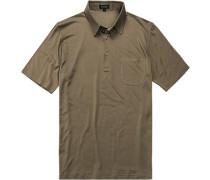 Herren Polo-Shirt Seiden-Jersey taupe