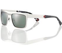 Herren Brillen Sonnenbrille, Metall, silber grau
