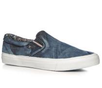 Herren Schuhe Slip Ons, Textil, denim blau