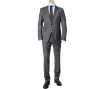 Herren Anzug, Shaped Fit, Schurwolle, anthrazit grau